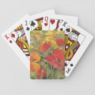 Orientalische Mohnblumen-Feld Spielkarten