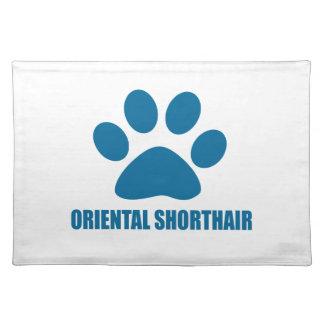 ORIENTALISCHE SHORTHAIR CAT-ENTWÜRFE TISCHSET