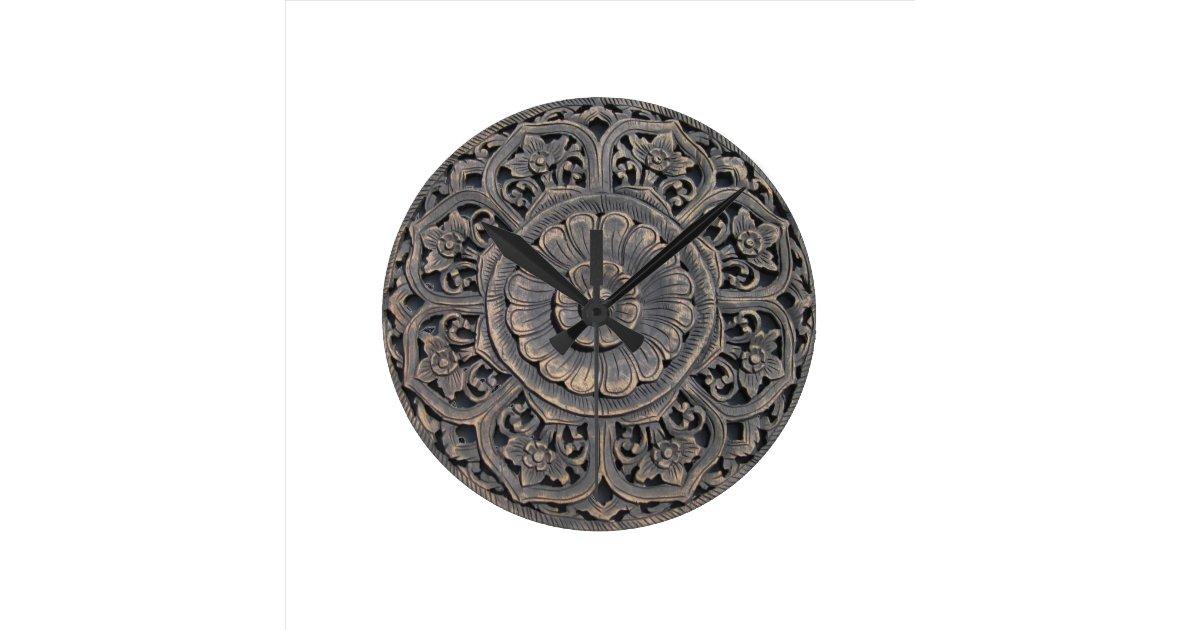 orientalische vintage wand uhr uhren zazzle. Black Bedroom Furniture Sets. Home Design Ideas
