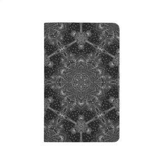 Orientalische Zen-Mandala Schwarzweiss Taschennotizbuch