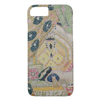 Orientalischer Landschafts-Entwurf (Farbelitho) iPhone 8/7 Hülle