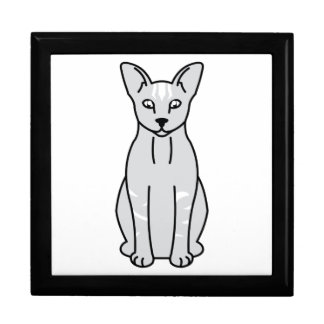 Orientalischer Rauch-Katzen-Cartoon Schmuckschachtel