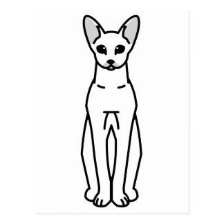 Orientalischer Shorthair Katzen-Cartoon Postkarte