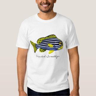 Orientalischer Sweetlips Riff-Fisch-T - Shirt