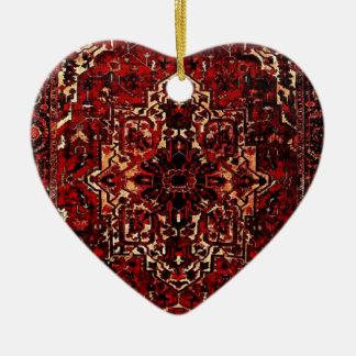 Orientalischer Wolldeckeentwurf in dunkelrotem Keramik Ornament