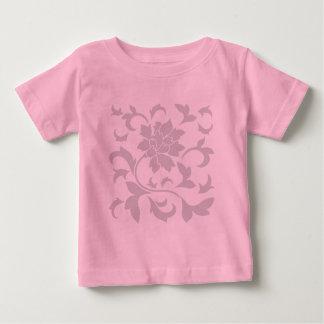 Orientalisches Blume-Graues Baby T-shirt