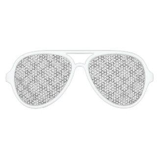 Orientalisches Schwarzweiss-verziertes Partybrille