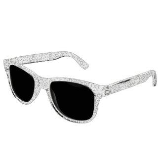 Orientalisches Schwarzweiss-verziertes Sonnenbrille