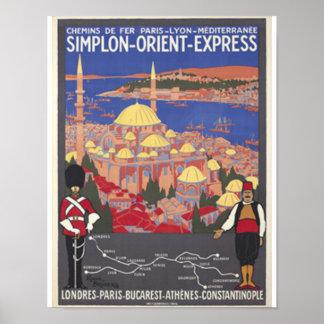 Orientexpress nach Konstantinopel Poster