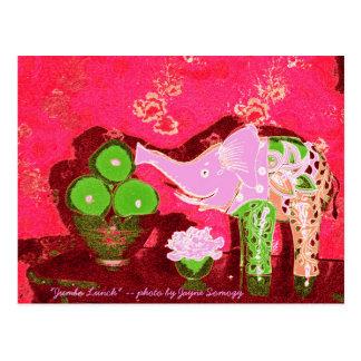 Orig. Foto--Äpfel des rosa Elefant-w/Green Postkarte
