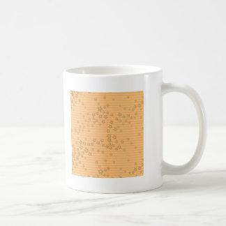 Origami Blumen u. Streifen Kaffeetasse