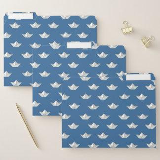 Origami Boote auf dem Wasser-Muster Papiermappe