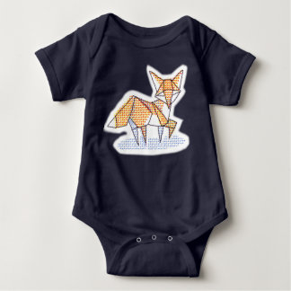 Origami Fuchsbodysuit Baby Strampler
