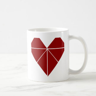 Origami Herz Kaffeetasse