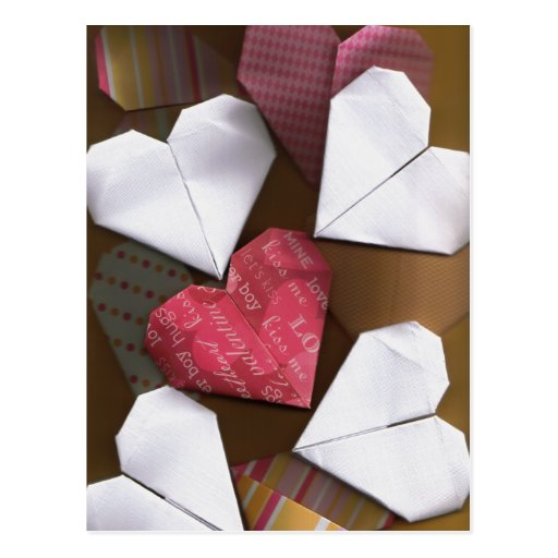 Origami Herz-Postkarte
