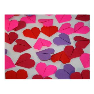 Origami Herzen Postkarte