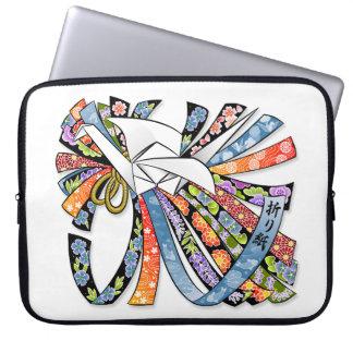 Origami Kran-japanisches Papier-viel Glück Noshi Laptopschutzhülle