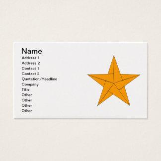 Origami Stern - Gold Visitenkarte