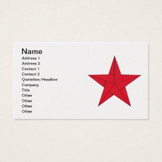Origami Stern - Rot Visitenkarte