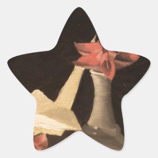 Origami Stillleben Stern-Aufkleber