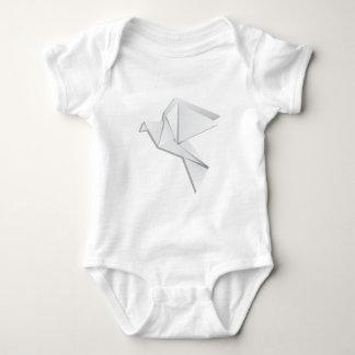 Origami Taube Baby Strampler
