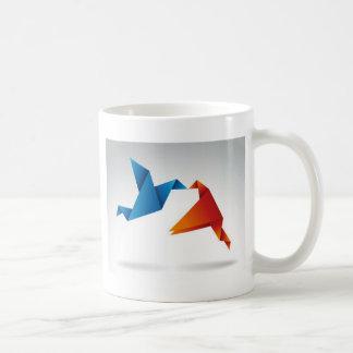 Origami Vogelentwurf Kaffeetasse