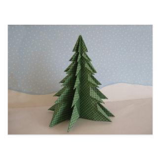 Origami Weihnachtsbaum Postkarte