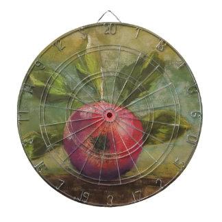 Originalvorlage, die roten Apfel malt Dartscheibe