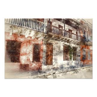 Originalvorlage von Cartagen Kolumbien Fotodruck