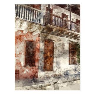 Originalvorlage von Cartagen Kolumbien Postkarte