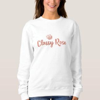 Orignial Rosen-Goldstrickjacke Sweatshirt