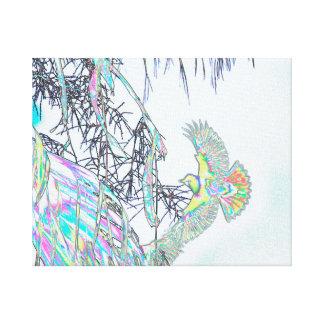 Oriole während des Flugs abstrakt Leinwanddruck