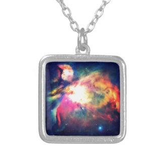 Orions-Nebelfleck ergreifend schön Versilberte Kette