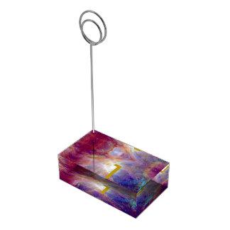 Orions-Nebelfleck Fuschia die rosa NASA Tischnummernhalter