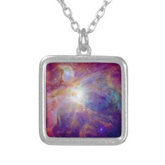 Orions-Nebelfleck Fuschia die rosa NASA Versilberte Kette