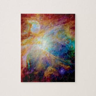 Orions-Nebelfleck Hubble Spitzer Puzzle