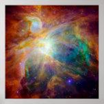 Orions-Nebelfleck (Hubble u. Spitzer Teleskope)