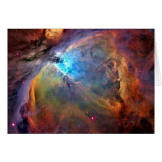 Orions-Nebelfleck-Raum-Galaxie Grußkarte