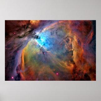 Orions-Nebelfleck-Raum-Galaxie-Plakat Poster