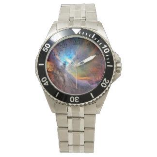 Orions-Nebelfleck-Raum-Galaxie Uhr