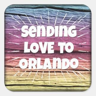 Orlando-Impuls-Regenbogen-Aufkleber Quadratischer Aufkleber