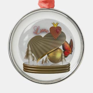 Ornament Anhänger Deko Baumschmuck Snowglobe Love
