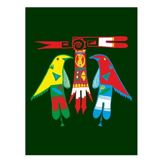 Ornament Indianer Native American Postkarte