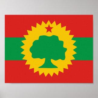 Oromo Flaggen-Plakat Poster
