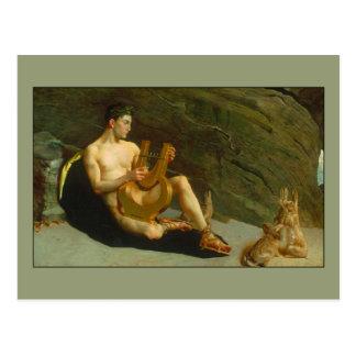 Orpheus durch George entwalden Bürste Postkarte