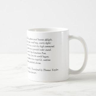 Orphic Hymne zu Pan Kaffeetasse