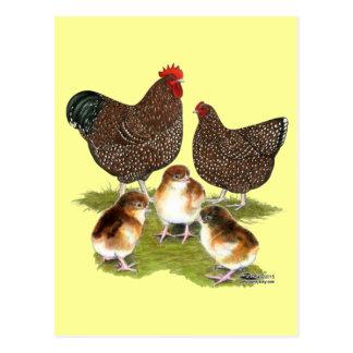 Orpington Jubiläum-Huhn-Familie Postkarte
