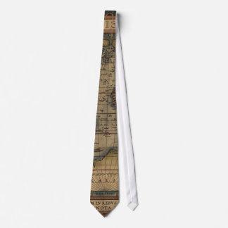 Ortelius Weltkarte 1570 Personalisierte Krawatte