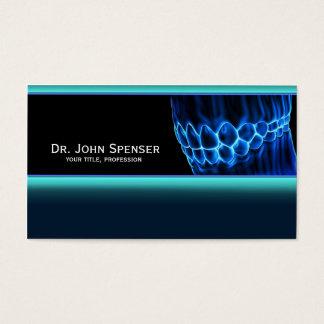 Orthodontist-blaue Zahn-und Gummi-Visitenkarte Visitenkarte
