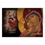 Orthodoxe christliche Weihnachtsikonen-Gruß-Karte